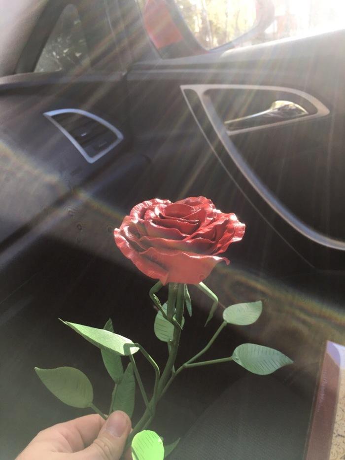 Роза из металла Роза, Самоделки, Металлическая, Ручная работа, Красивое