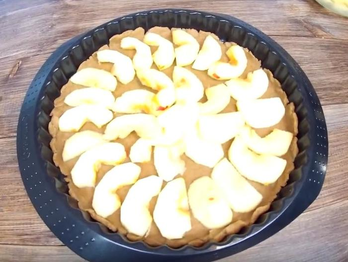 Яблочная галета Пирог яблочный, Яблочная галета, Галета с яблоками, Рецепт, Видео, Видео рецепт, Длиннопост