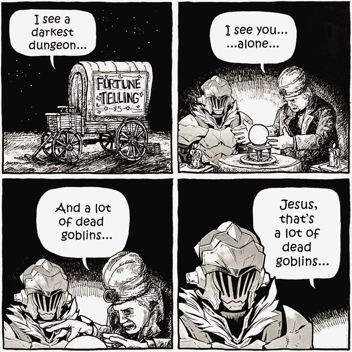 I see dead goblins... Goblin slayer, Комиксы
