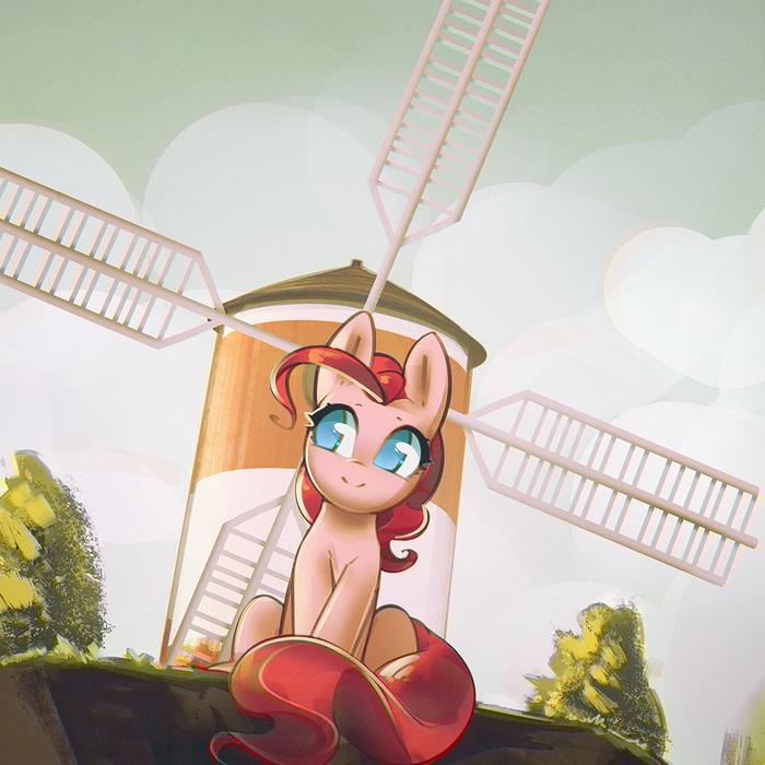 Windmill, windmill for the land My Little Pony, Ponyart, Pinkie Pie, Mirroredsea