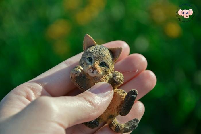 Котик из полимерной глины Кот, Полимерная глина, Фигурка, Рукоделие без процесса, Ручная работа, Длиннопост