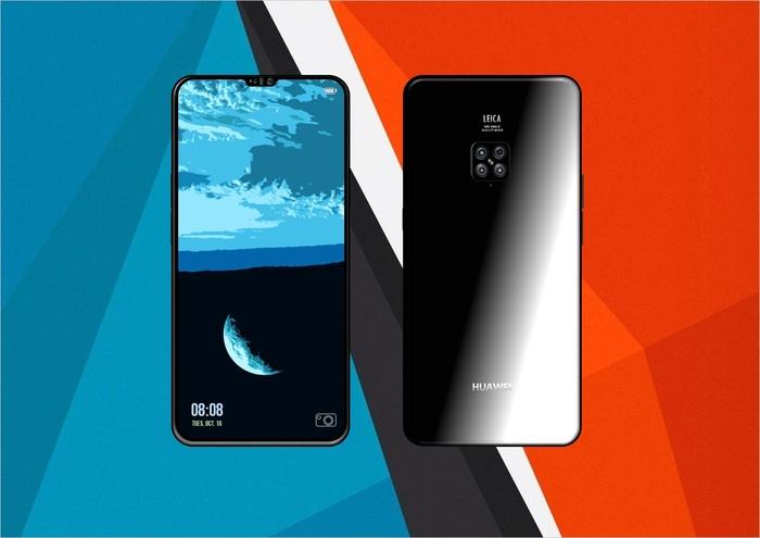 Концепт: Huawei Mate 20 Pro Смартфон, Huawei, 4 камеры