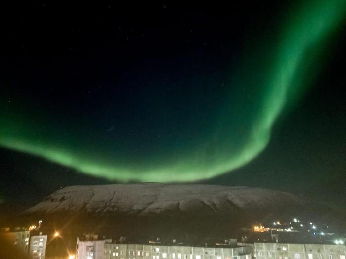 Норильск, северное сияние Север, Красота природы