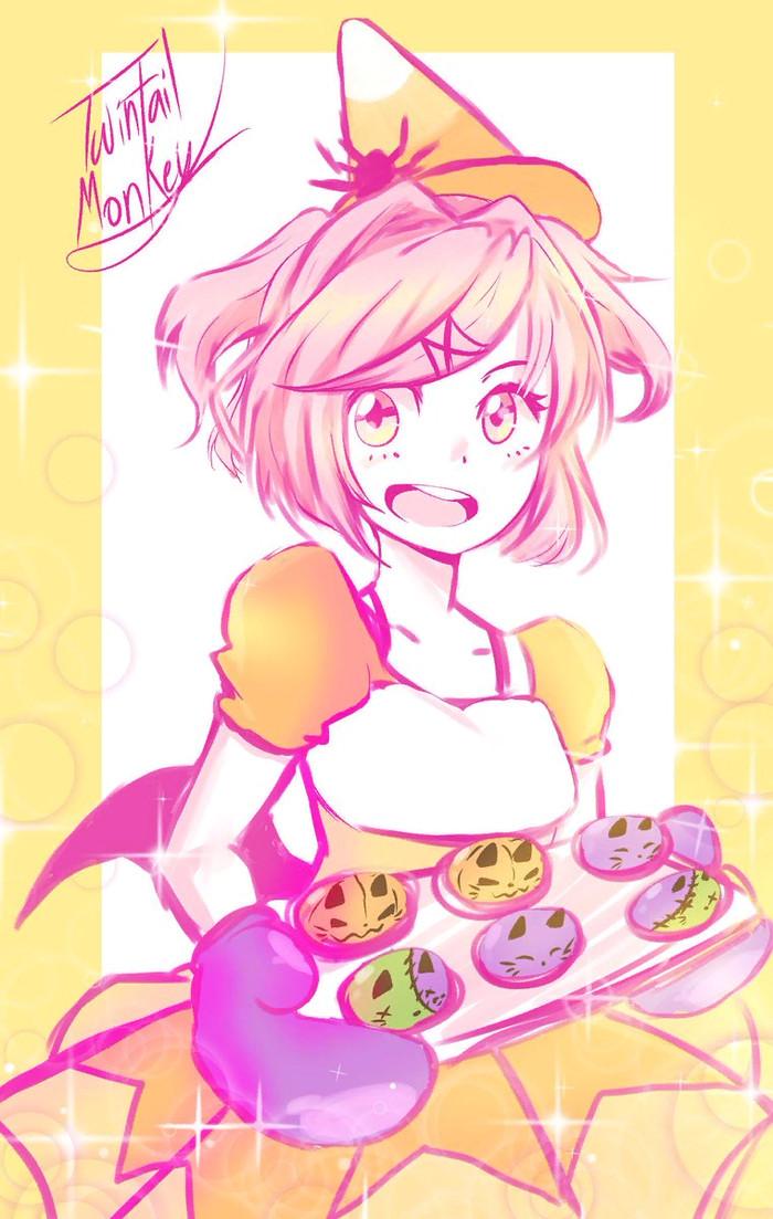 Who wants cupcakes? Doki doki literature Club, Natsuki, Anime art, Визуальная новелла