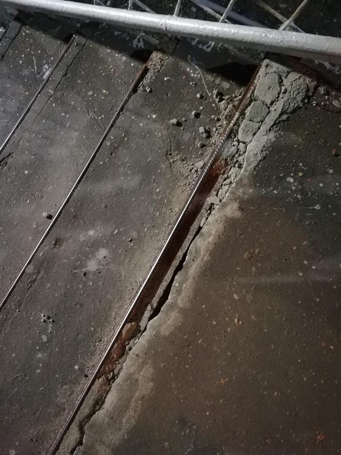 Ужасное качество ж/д платформы в г.Щербинка Новой Москвы Моё, РЖД, Платформа, Электричка, Дураки и дороги, Жалоба, Щербинка, Длиннопост