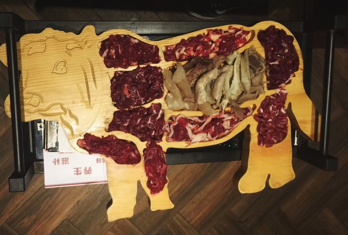 Друзья пошли поесть хуогуо в Китае, и прислали фото. Китай, Еда, Корова, Хуогуо