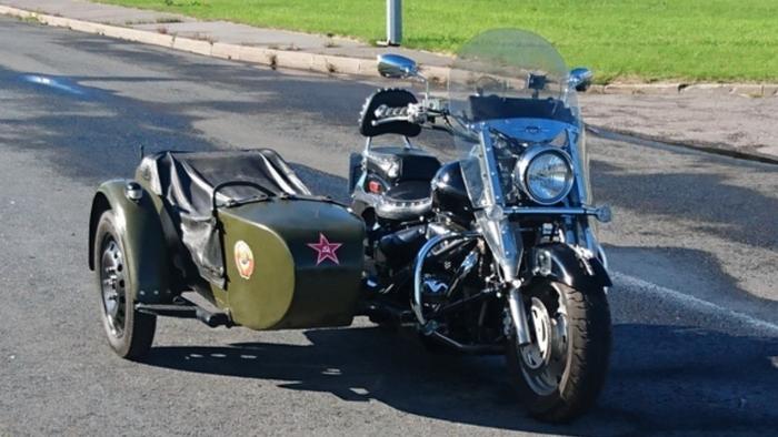 Sidecar Suzuki Boulevard C90T с коляской от Урала. Техника, Мото, СССР, Япония, Классика, Мотоциклы, Байк, Длиннопост