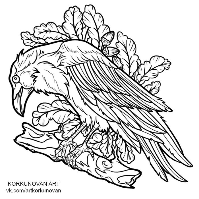 Пятничная подборка эскизов Цифровой рисунок, Эскиз, Птицы, Цветы, Korkunovan, Длиннопост, Рисунок, Русалка, Змея