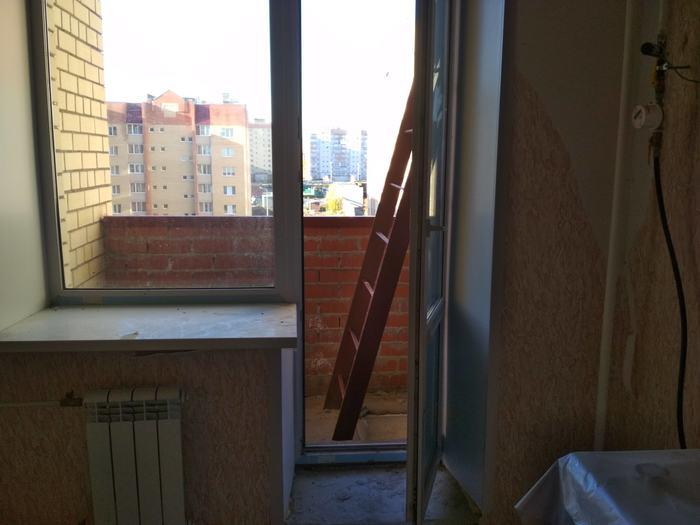 Я вышел.. на балкончик Балкон, Новостройка, Строители, Длиннопост