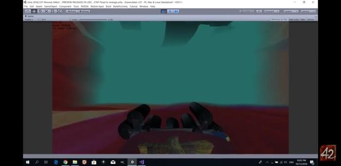Под водой Unity, Unity 5, FPS, Вода, Gamedev