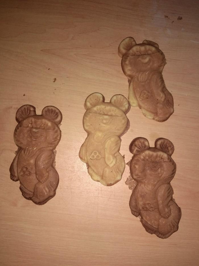 Олимпийский мишка Печенье, Олимпийский мишка, Домашняя выпечка, Детство, СССР