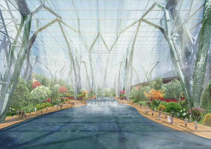 «Самая большая теплица в истории человечества» – японцы собираются построить огромный ботанический сад в Китае Китай, Оранжерея, Строительство, Туризм, Длиннопост