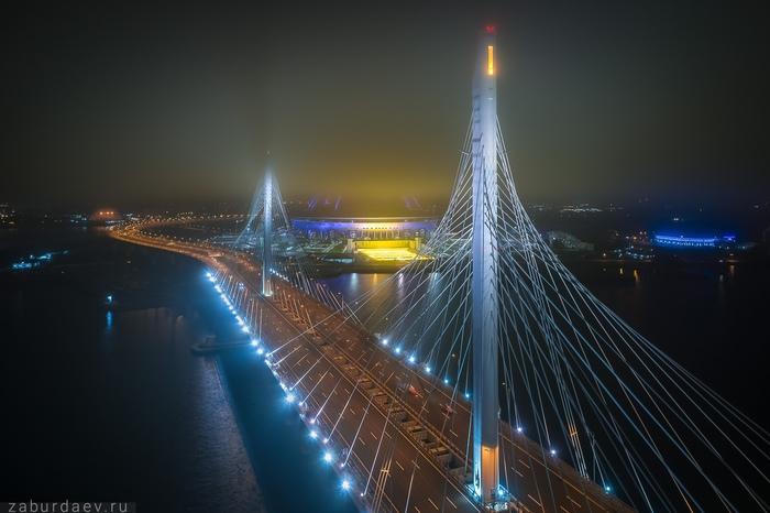 Там, за туманами... ЗСД, Стадион Зенит, Санкт-Петербург, Станислав Забурдаев, Квадрокоптер, Фотография