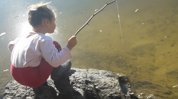А у вас рыба ловится? Рыбалка, Днепр, Рыба, Удочка, Длиннопост, Дети