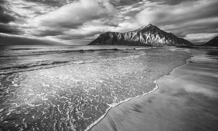 Лофотены, Норвегия Пейзаж, Природа, Норвегия, Лофотены