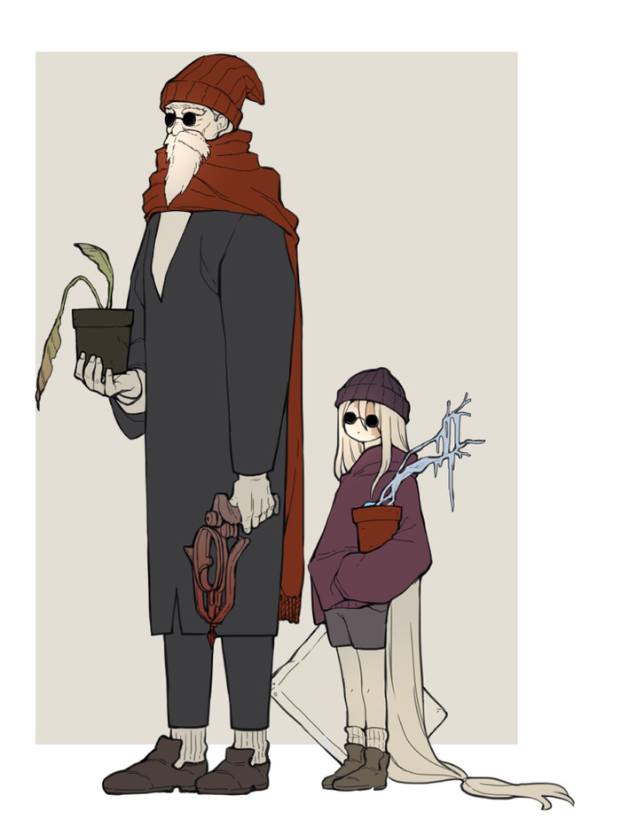 Leon and Matilda DoNar0217, Dark Souls, Slave Knight Gael, Painter Girl, Леон, Фильмы, Арт, Crossover