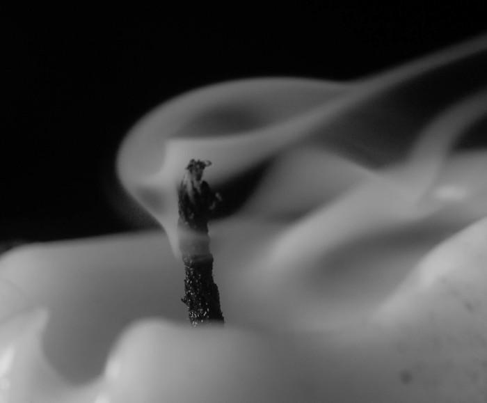 Свеча Увеличительное стекло, Свеча, Длиннопост, Дым, Фотография