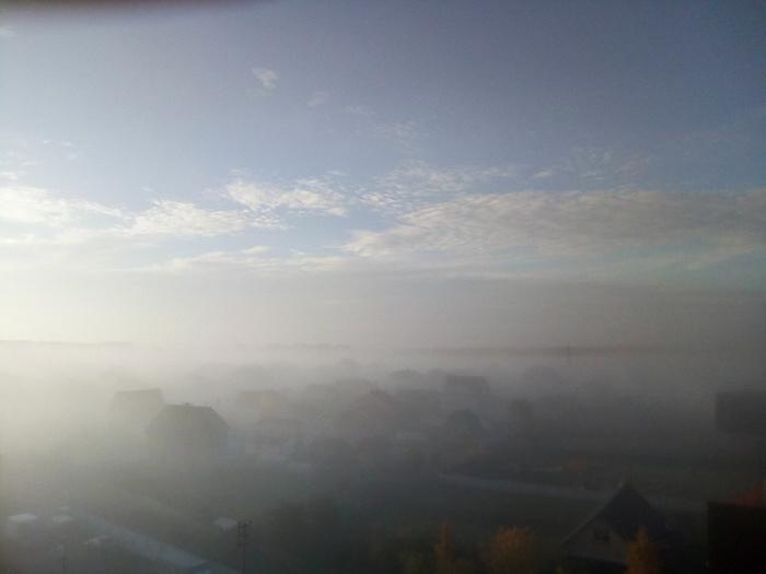 Мое утро в деревне Утка, Туман, Природа, Фотография