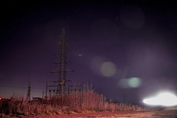 Небо ,звезды ,электропередачи и первый опыт . Начинающий фотограф, Nikon d3300, Астрофото, Звездное небо, Длиннопост, ЛЭП