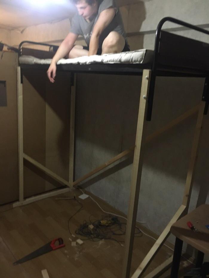 Кровать с чердаком Общага студент, Двухярусная кровать