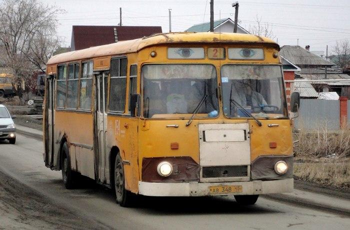 В провинции жизнь не меняется Провинция, Автобус, Шадринск, Лиаз-677м