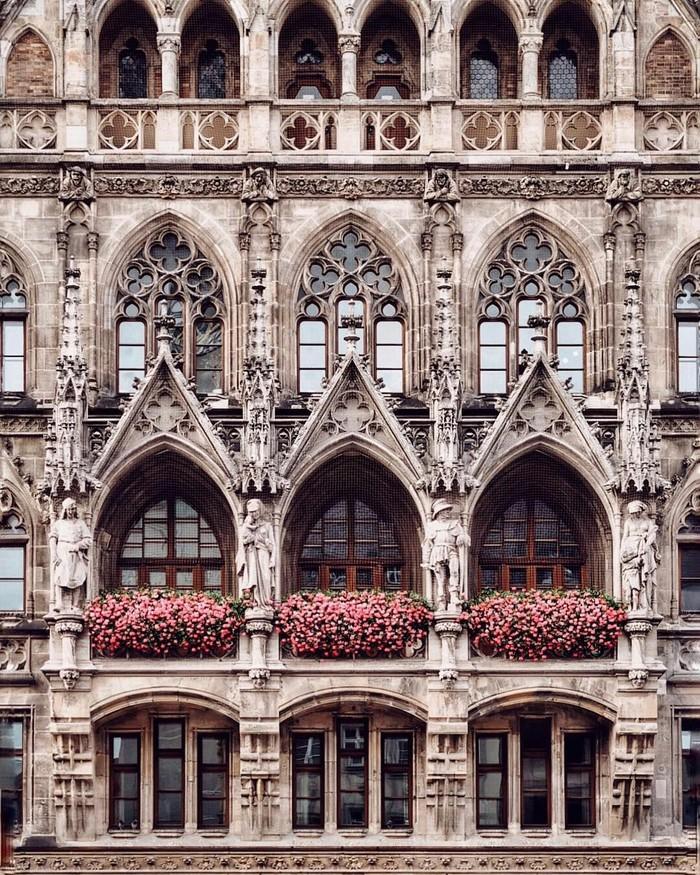 Архитектура Мюнхена, Германия.