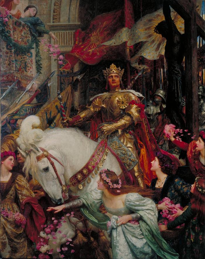 Фрэнк Бернард Дикси (1853—1928) Живопись, Средневековье, Легенда, Рыцарь, Викторианская эпоха, Длиннопост