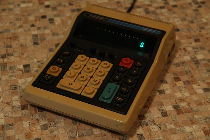 Toshiba BC-1270 Калькулятор, Toshiba, Oldschool, Длиннопост