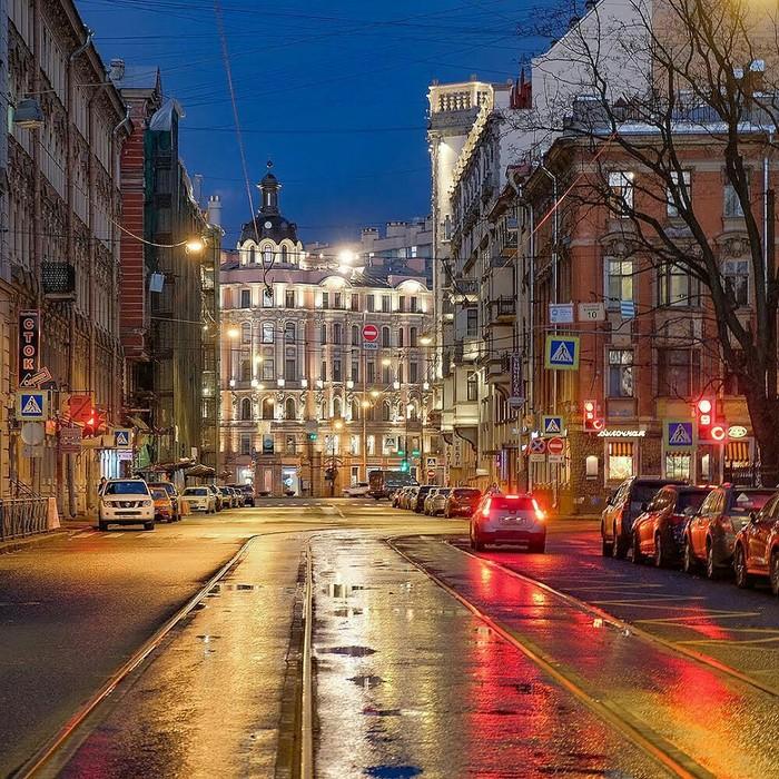Огни улицы Льва Толстого Улица, Октябрь, Город, Санкт-Петербург