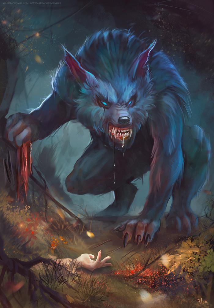 Оборотень Оборотни, Сказка, Красная шапочка, Волк, Рисунок, Арт, Цифровой рисунок, Концепт-Арт