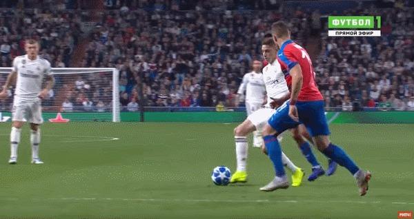 В этом голе прекрасно всё Спорт, Футбол, Лига чемпионов, Реал Мадрид, Марсело, Бейл, Гифка