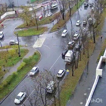 Пешеход vs грузовик ДТП, Хабаровск, Грузовик, Пешеход, Гифка, Негатив