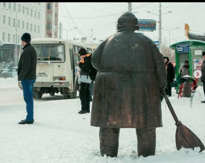Сардана Авксентьева устроила разнос муниципальным дворникам Сардана Авксентьева, Якутск, Дворник
