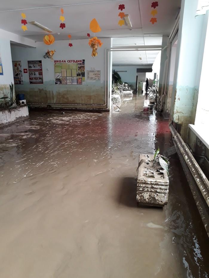 После большой воды Наводнение, Краснодарский Край, Хадыженск, Потоп, Школа, Стихия, Длиннопост
