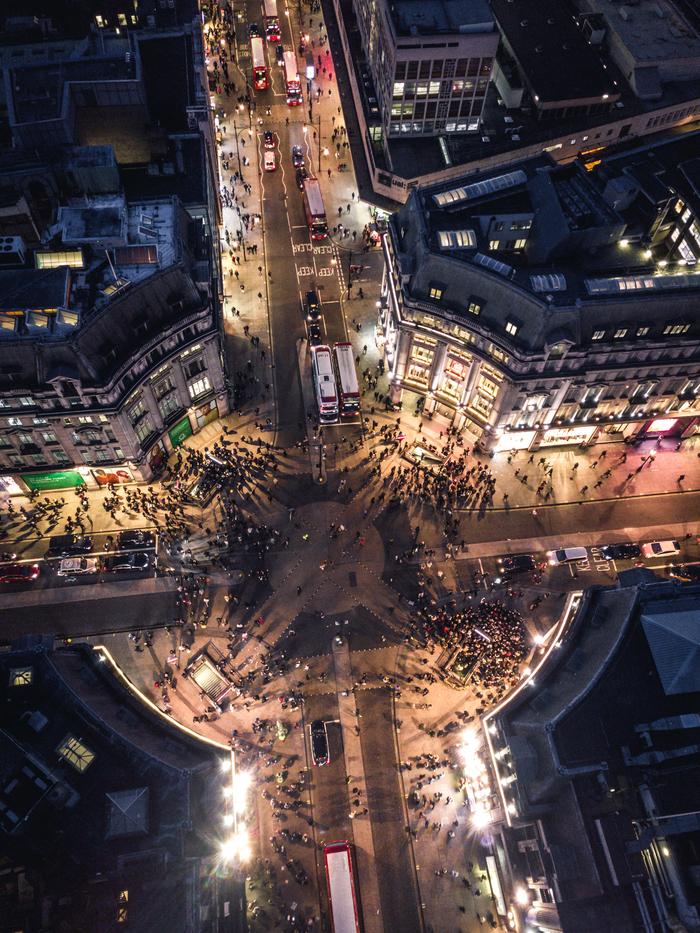 Лондон, Oxford Street Фотография, Квадрокоптер, Лондон, Улица, Торговля, Великобритания, Город, Путешествия