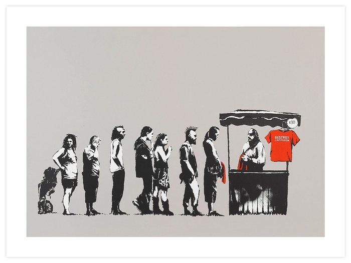 """Картина Бэнкси """"Destroy Capitalism"""" Бэнкси, Капитализм, Художник"""