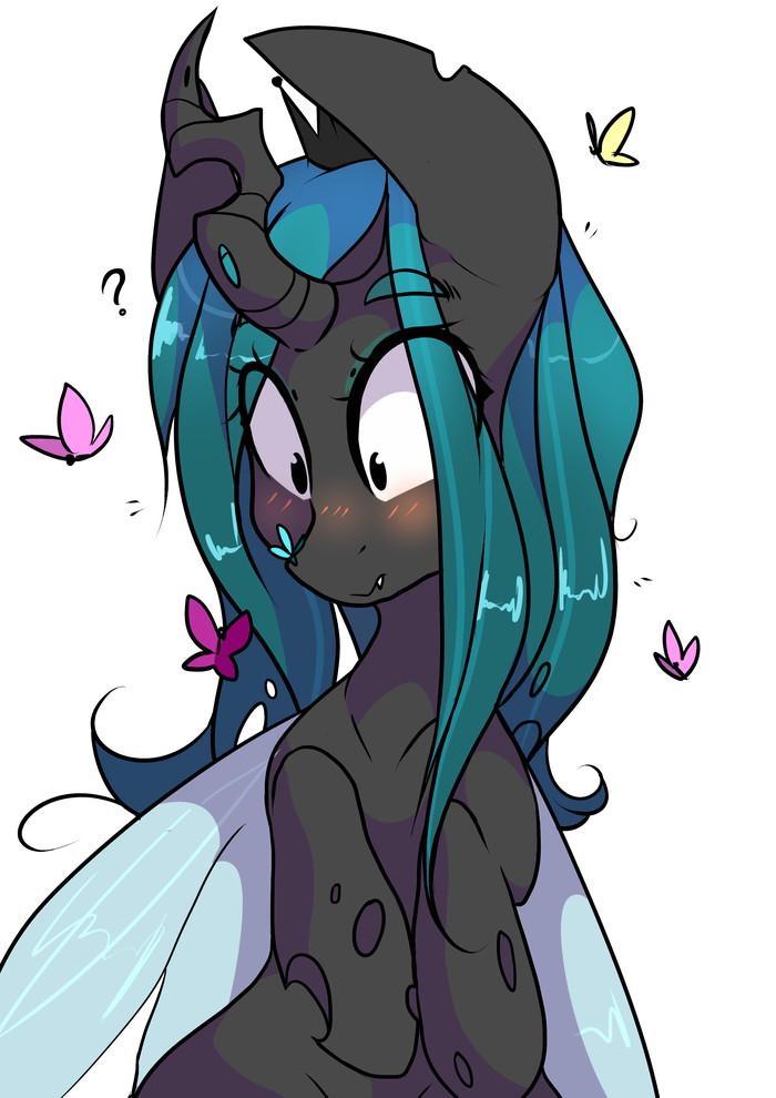 Huh? My Little Pony, Queen Chrysalis, Бабочка