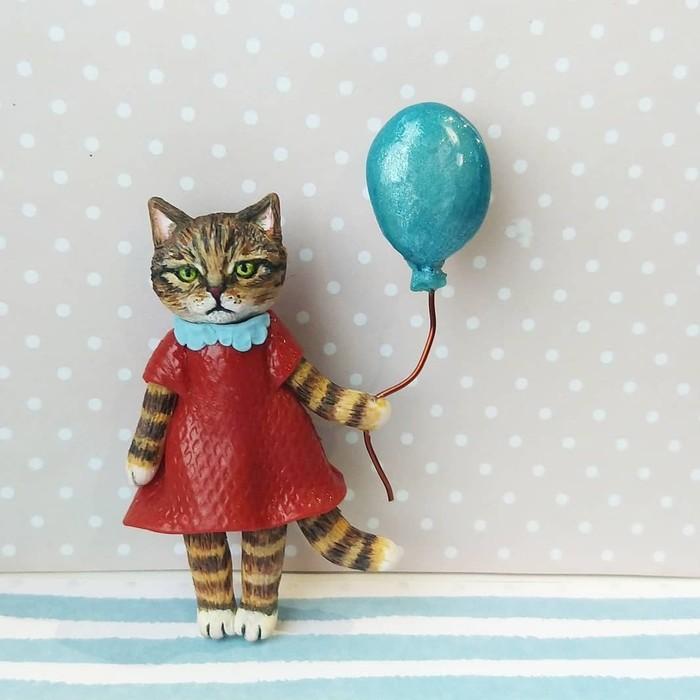 Очень строгий котик. Рукожоп, Рукоделие без процесса, Лепка, Длиннопост, Кот