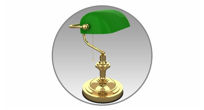 Настольная лампа «Banker» своими руками Своими руками, Рукоделие с процессом, Продолжение следует, Длиннопост