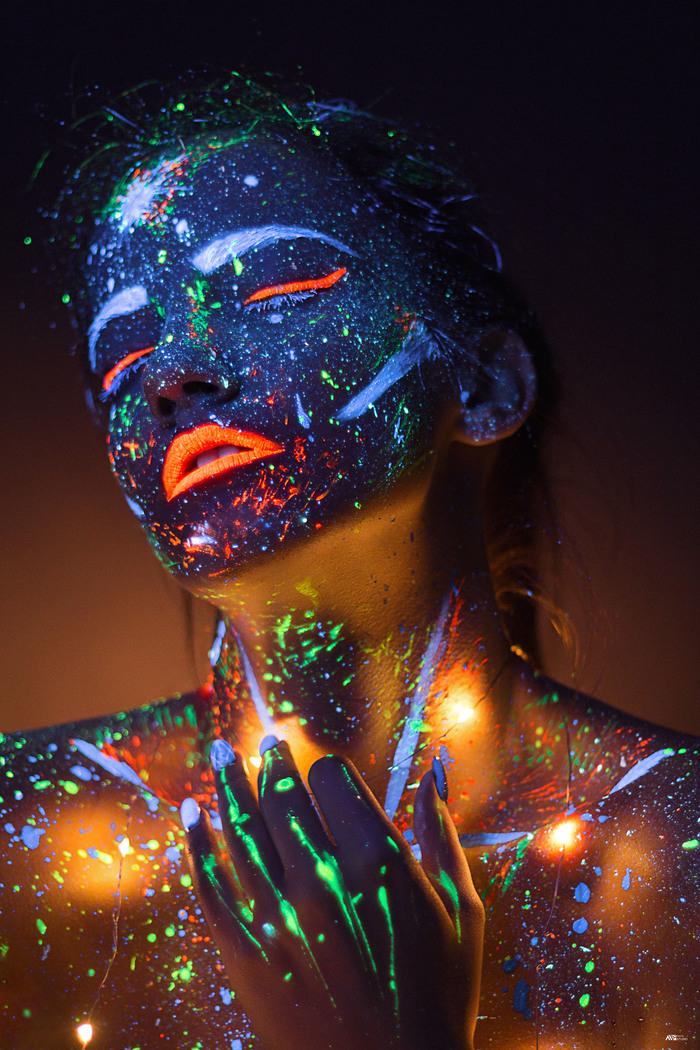 Ультрафиолет Ультрафиолет, Флуоресцент, Фотография, Модели, Краски, Длиннопост