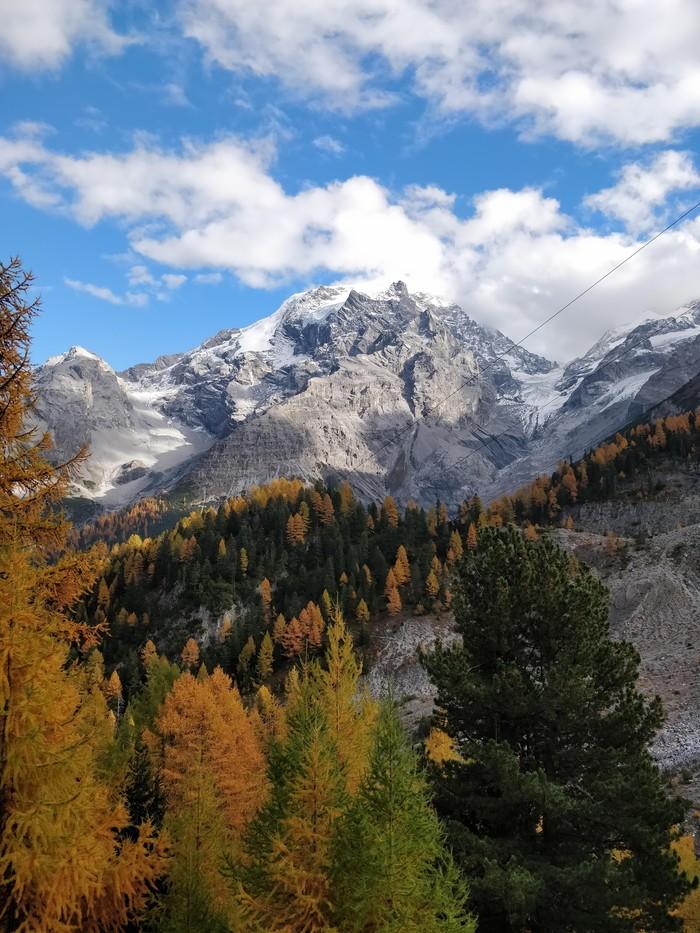 Вид на перевале Стельвио, Италия.