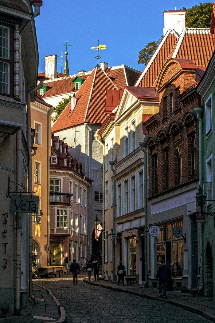 Улицы старого Таллина.