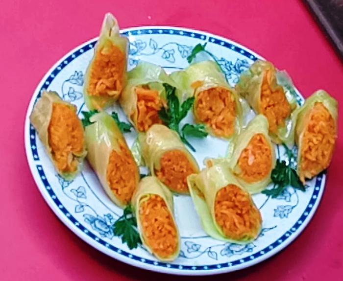 Маринованные голубцы с корейской морковкой Голубцы по корейски, Еда, Кулинария, Видео, Длиннопост