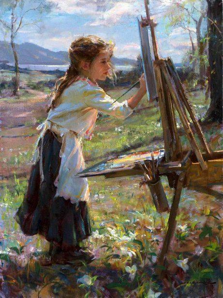 Маленькая художница. Даниэль Герхарц, Картина, Девочка