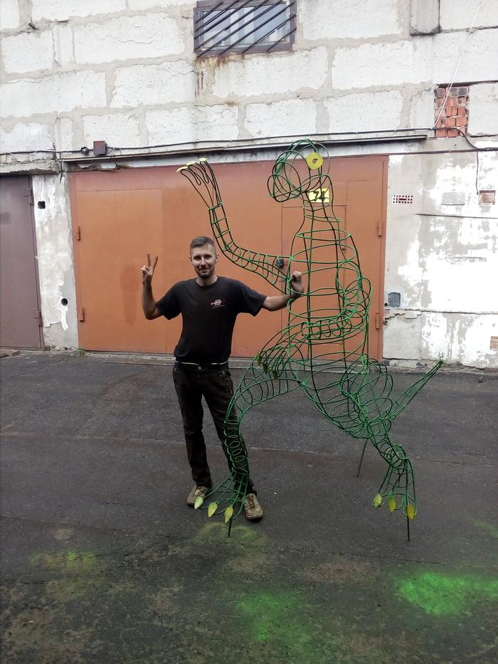 Динозавры ррррр Динозавры, Скульптура, Сварка, Своими руками, Поделки из проволоки, Самоделки, Садовые фигуры, Творчество, Длиннопост