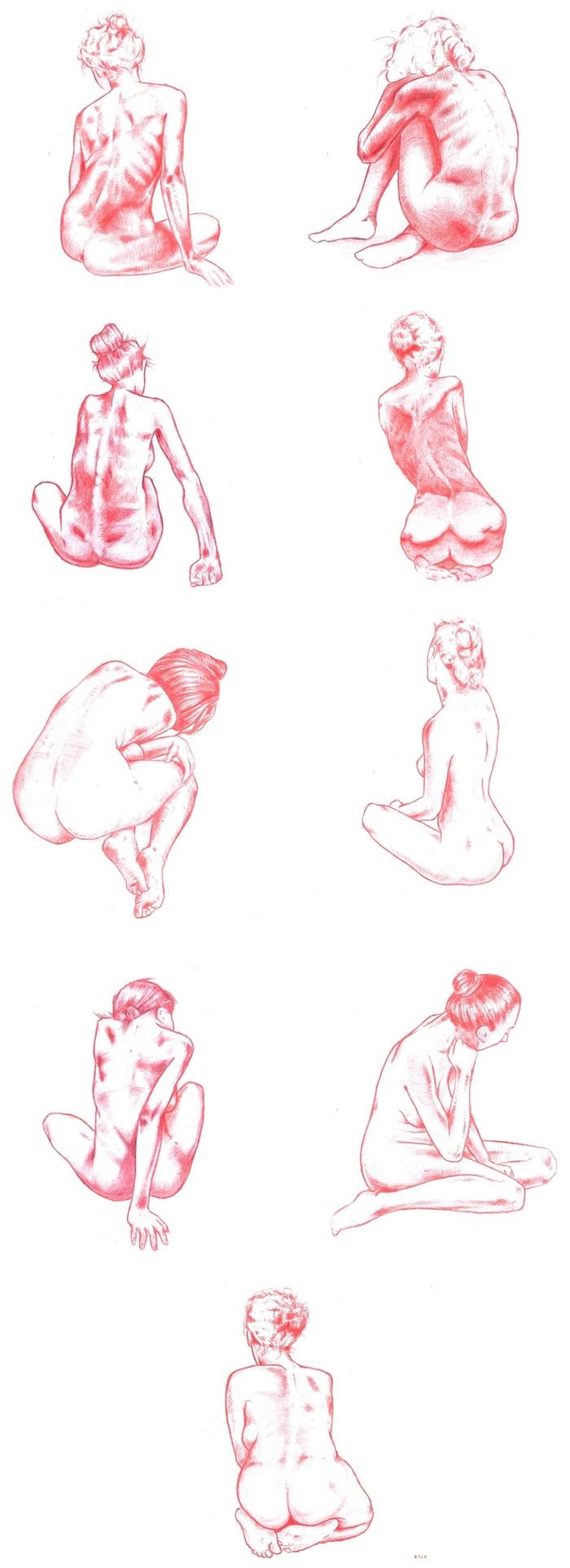 Red# Все рисунки Длиннопост, Рисунок, Рисунок карандашом, Красный карандаш, Фигура