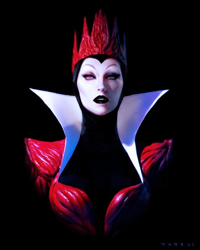 Wicked Queen Арт, Белоснежка, Злая королева, Toraji, Walt Disney Company