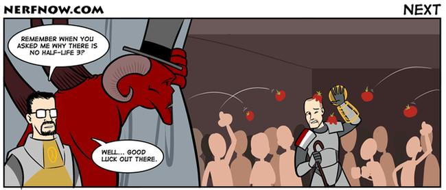 Почему Half Life 3 не выходит. Комиксы, Half-Life 3, Diablo Immortal, Mass Effect:Andromeda, Nerfnow, Mass Effect