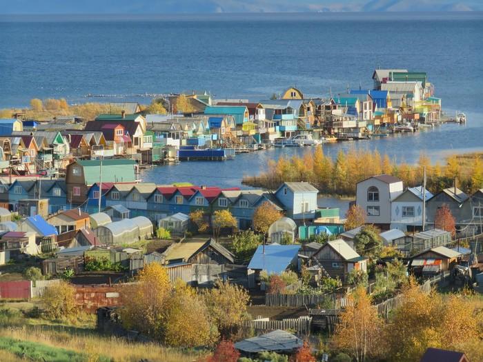 Осень в Северобайкальске Байкал, Саяны, Осень, Длиннопост