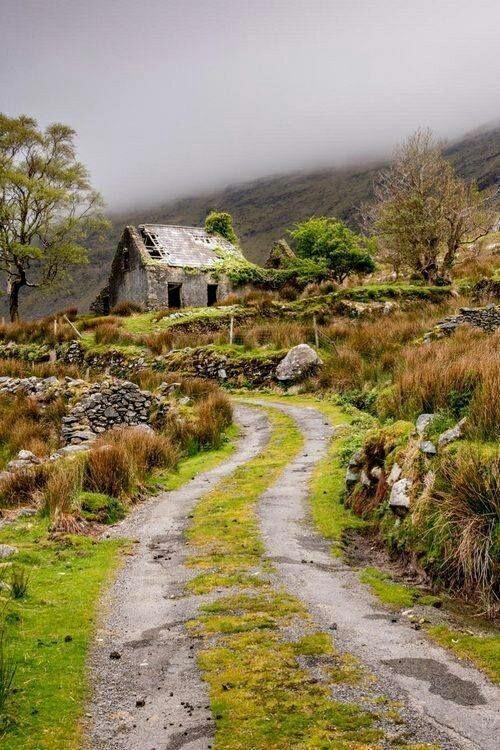 Заброшенный дом в Ирландии.